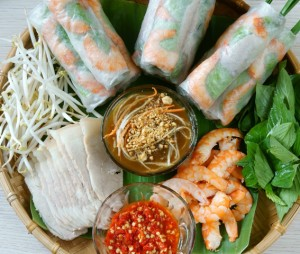 Vietnamese food, goi cuon, salad roll